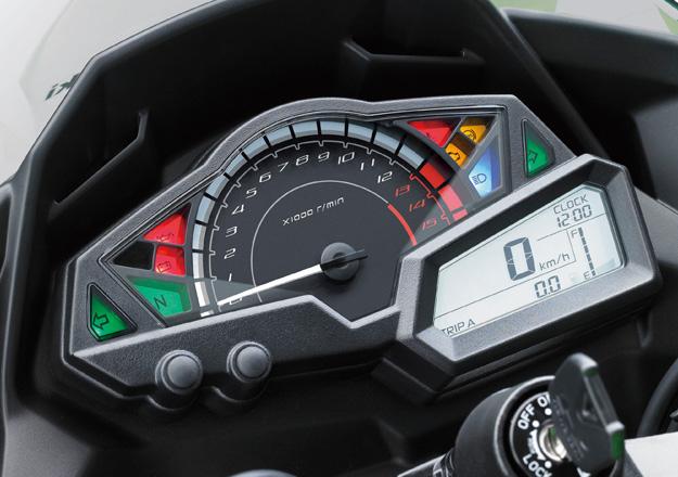 Detalhes painel Kawasaki NINJA 300 na Moto Flecha